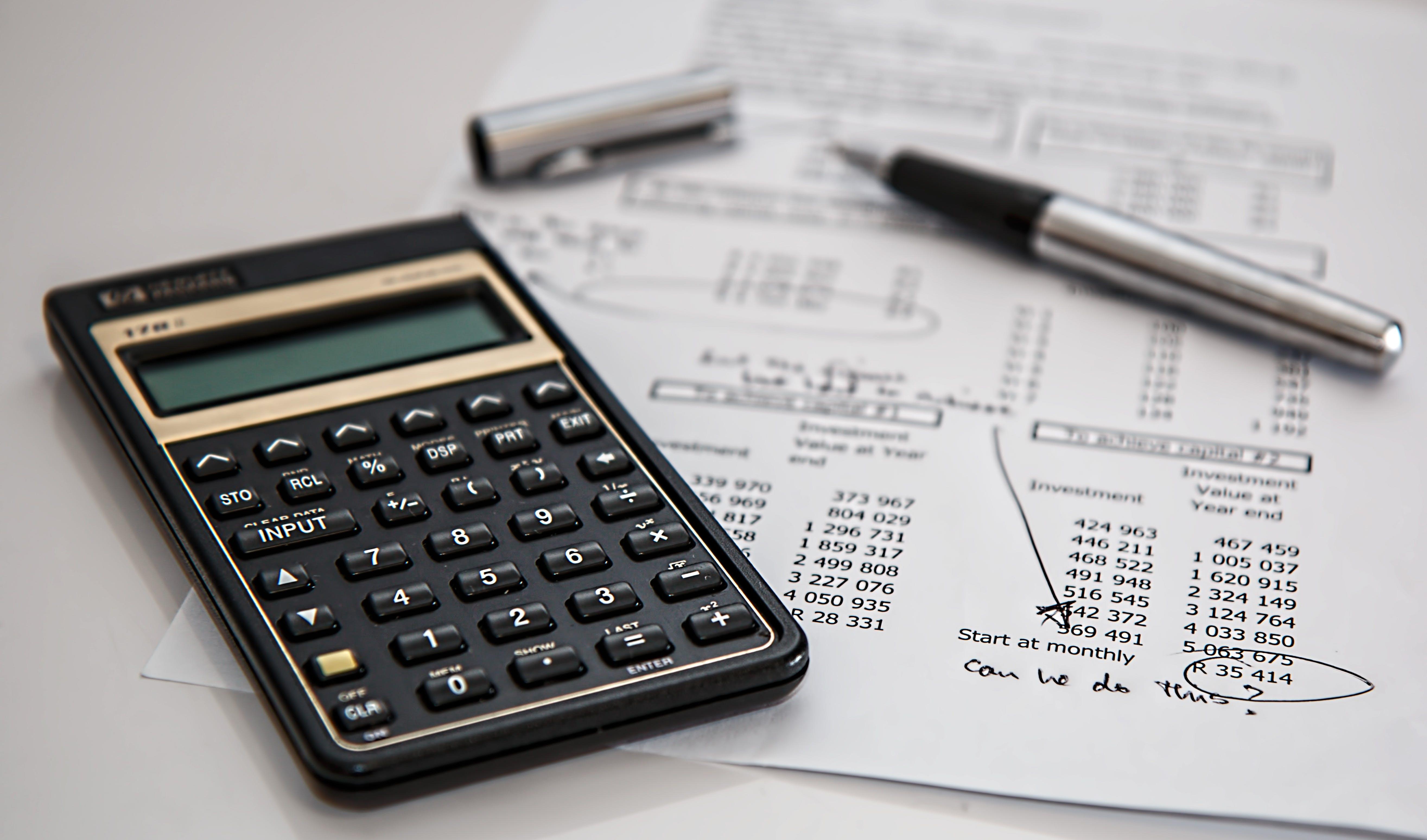 calculator, math, paper