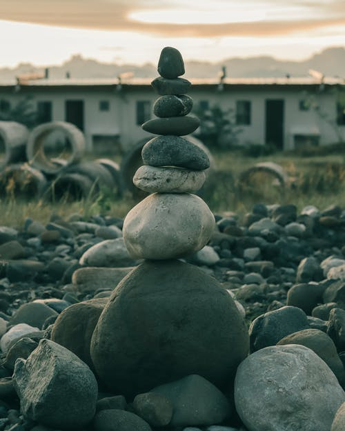 Stack of Stones in Different Sizes