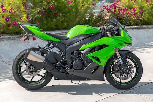 Green and Black Sports Bike