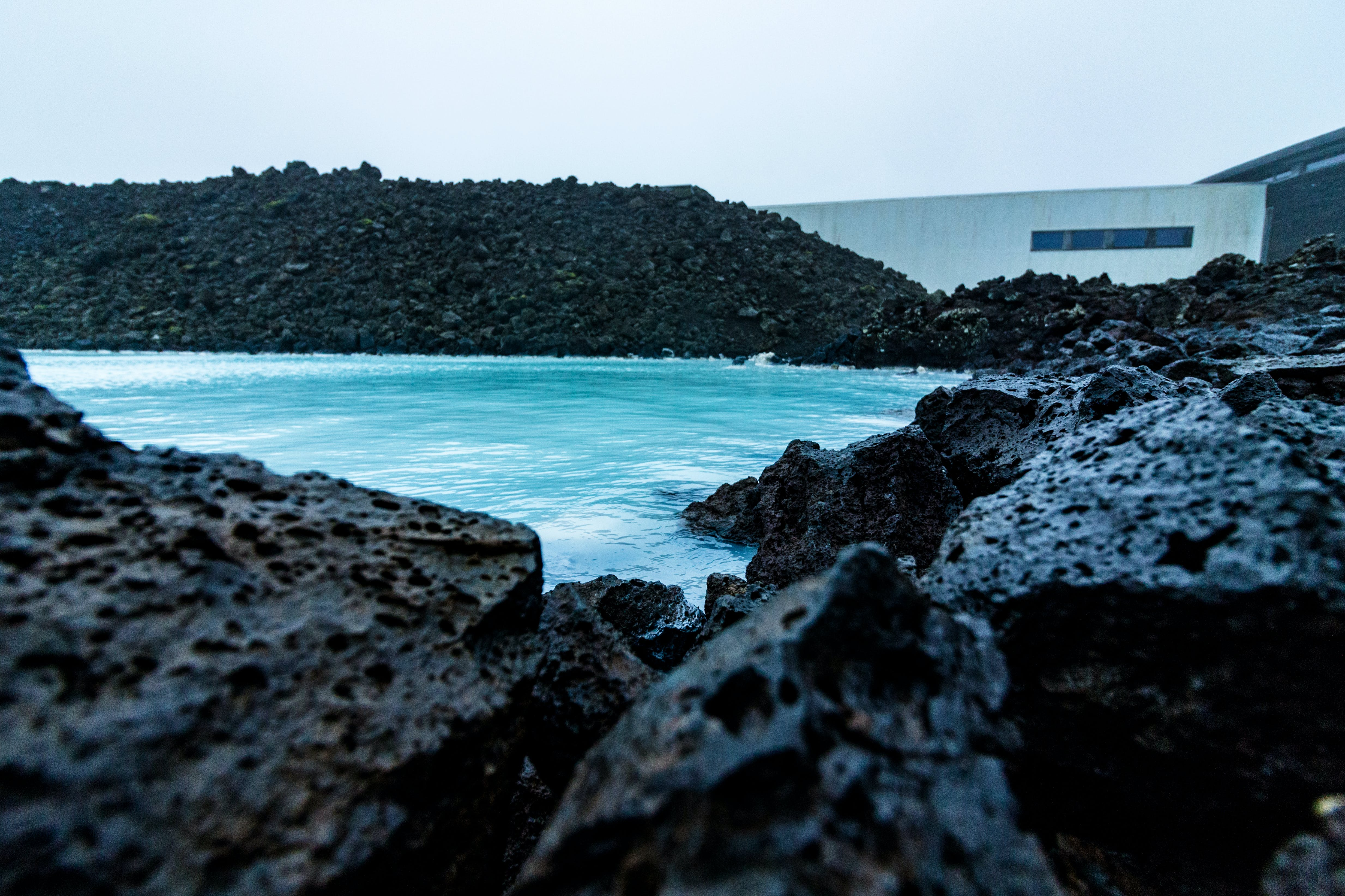 Free stock photo of black rocks, blue, blue lagoon, iceland