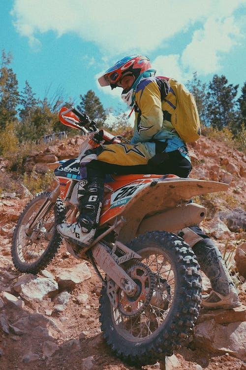 A Man Riding a Dirt Bike