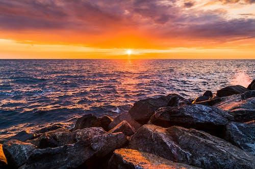 傍晚的太陽, 喜悅, 地平線, 天性 的 免费素材图片