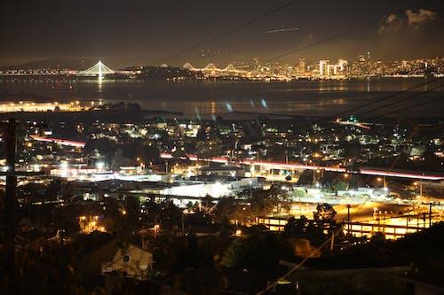 Fotos de stock gratuitas de autopista, exposición larga, Puente de la Bahía, San Francisco
