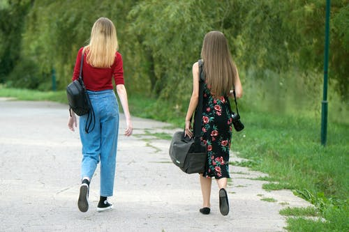 Free stock photo of bags, girls, park, walking alley