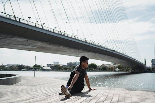 Kostnadsfri bild av arkitektur, asana, asiatisk man, atmosfär