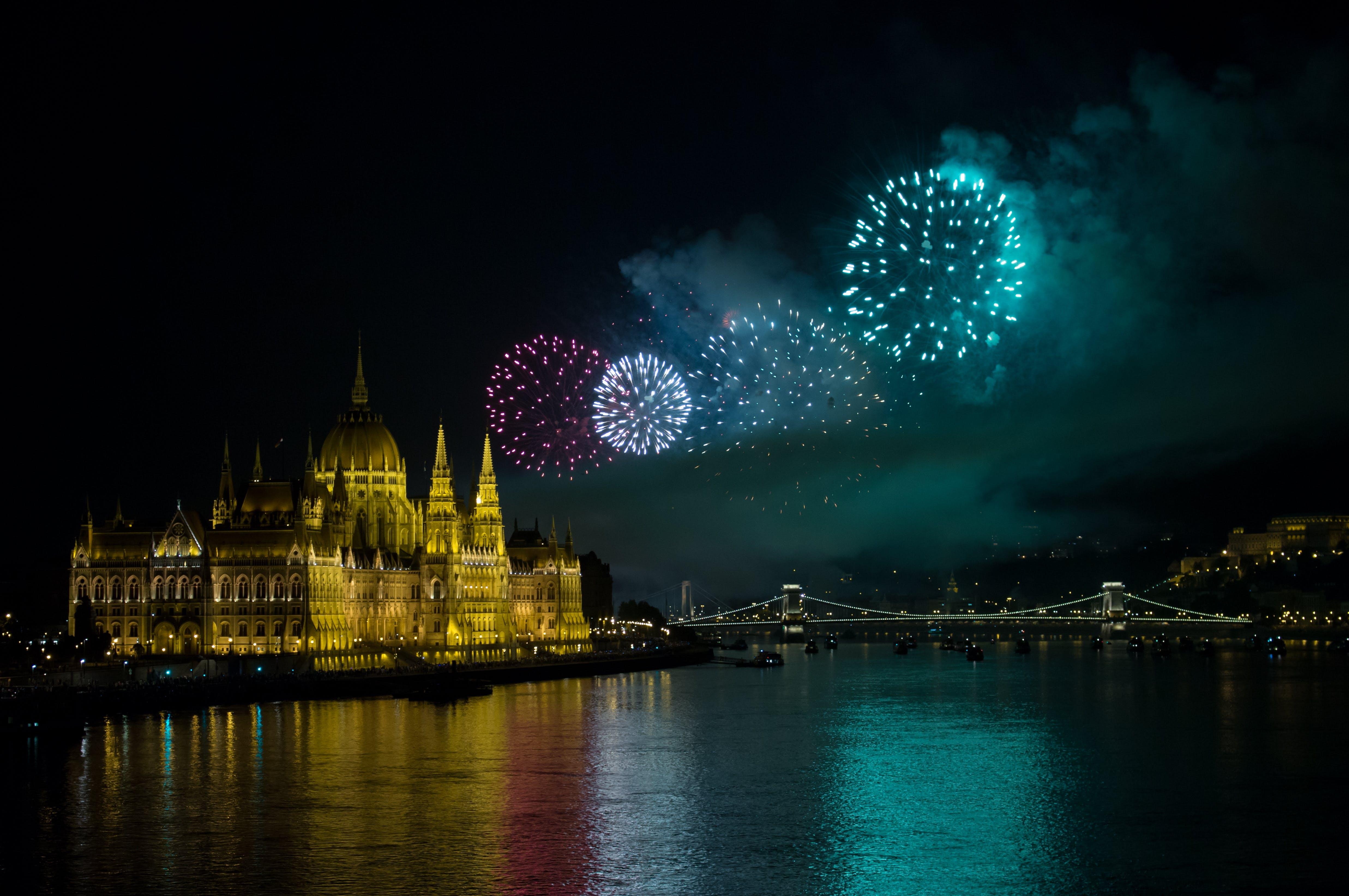 Free stock photo of boom, bridge, Budapest, celebration