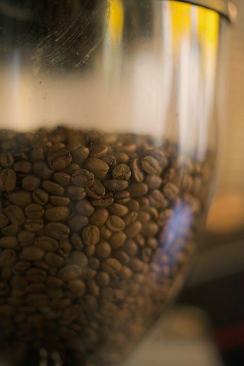 Brown Coffee Beans in a Clear Jar