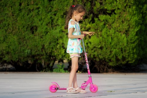 Free stock photo of child, kick scooter, little girl, nature