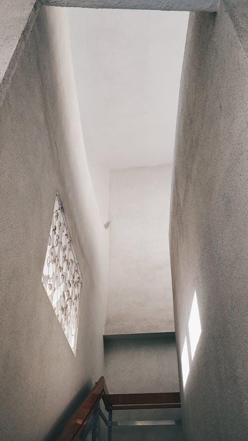Narrow stairway in modern building