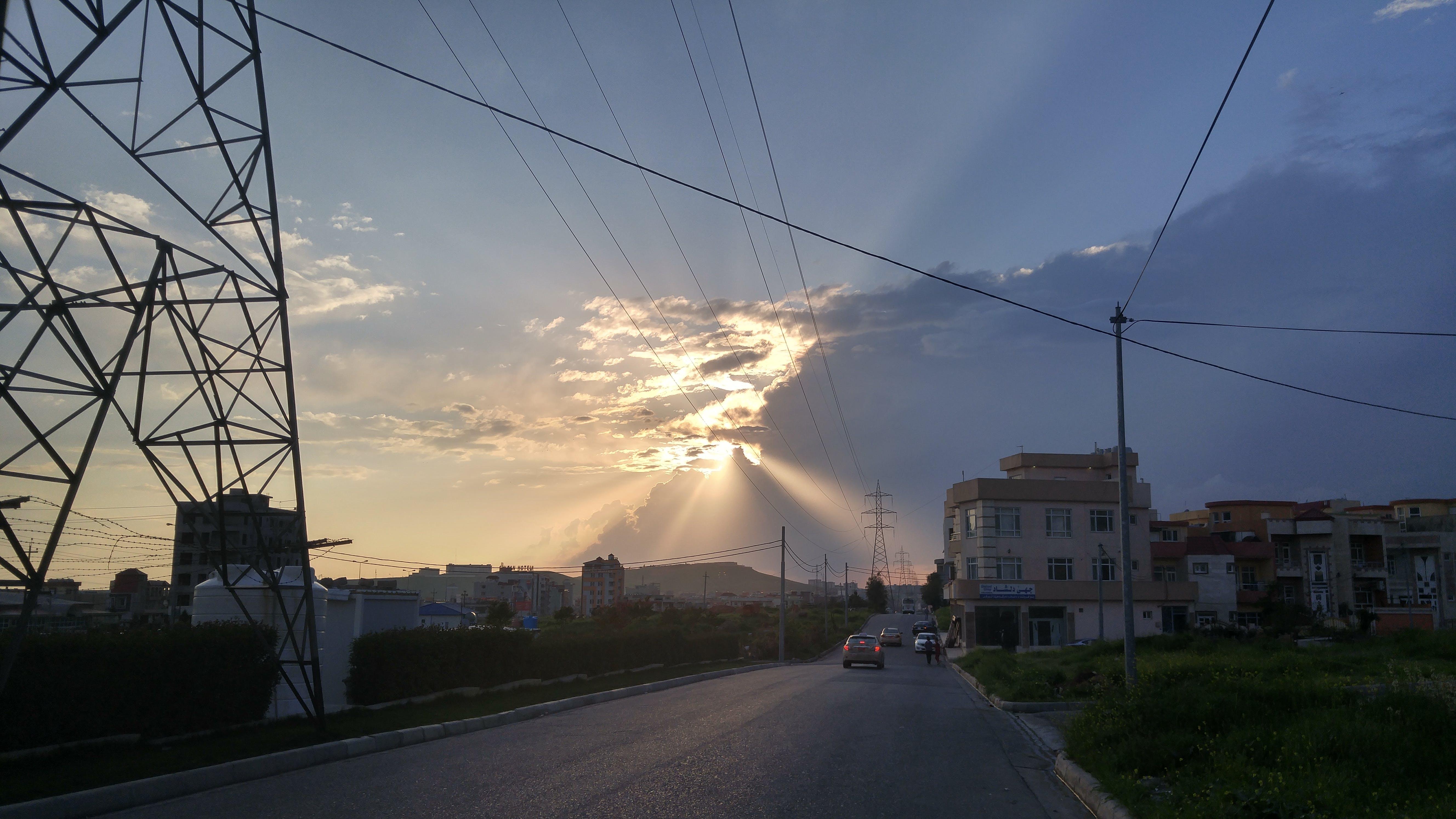 Free stock photo of Duhok, sunset