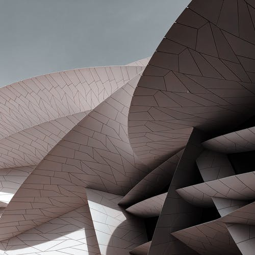 Futurystyczny Nowoczesny Budynek Z Niezwykłymi Detalami