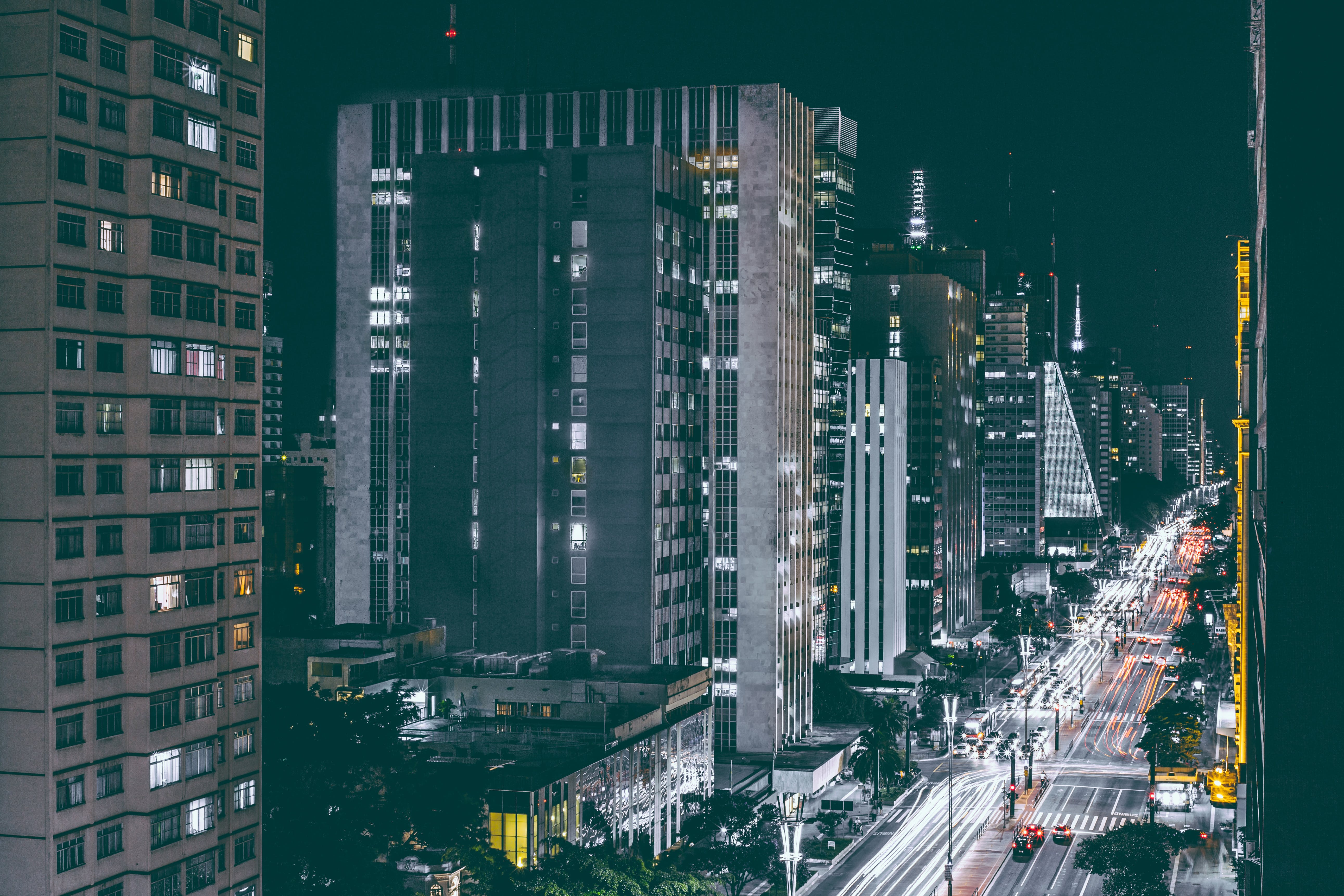 City Lights and Buildings