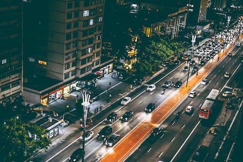 交通, 光跡, 塔, 市容 的 免费素材照片