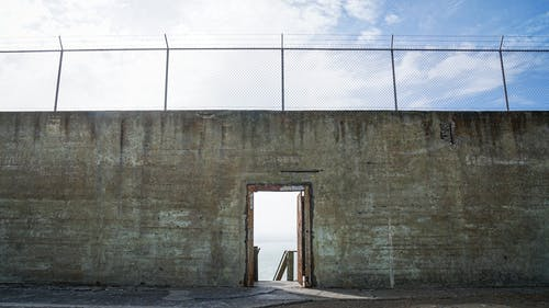 Free stock photo of alcatraz, barbed wire, barbed wire fence