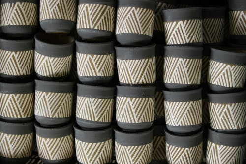 Free stock photo of black, clay pots, colorful pots, cooking pots