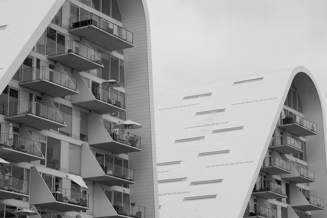 arkitektonisk, arkitektur, by