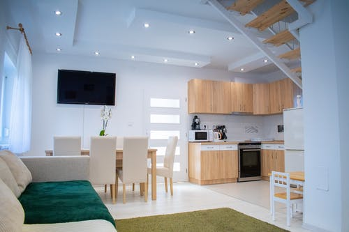 Stylish comfortable modern apartment with simple furniture