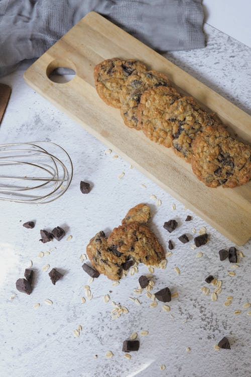 Cookies on a  Wooden Chopping Board