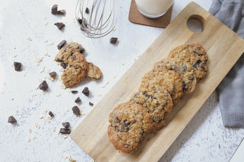 Cookies on Wooden Chopping Board