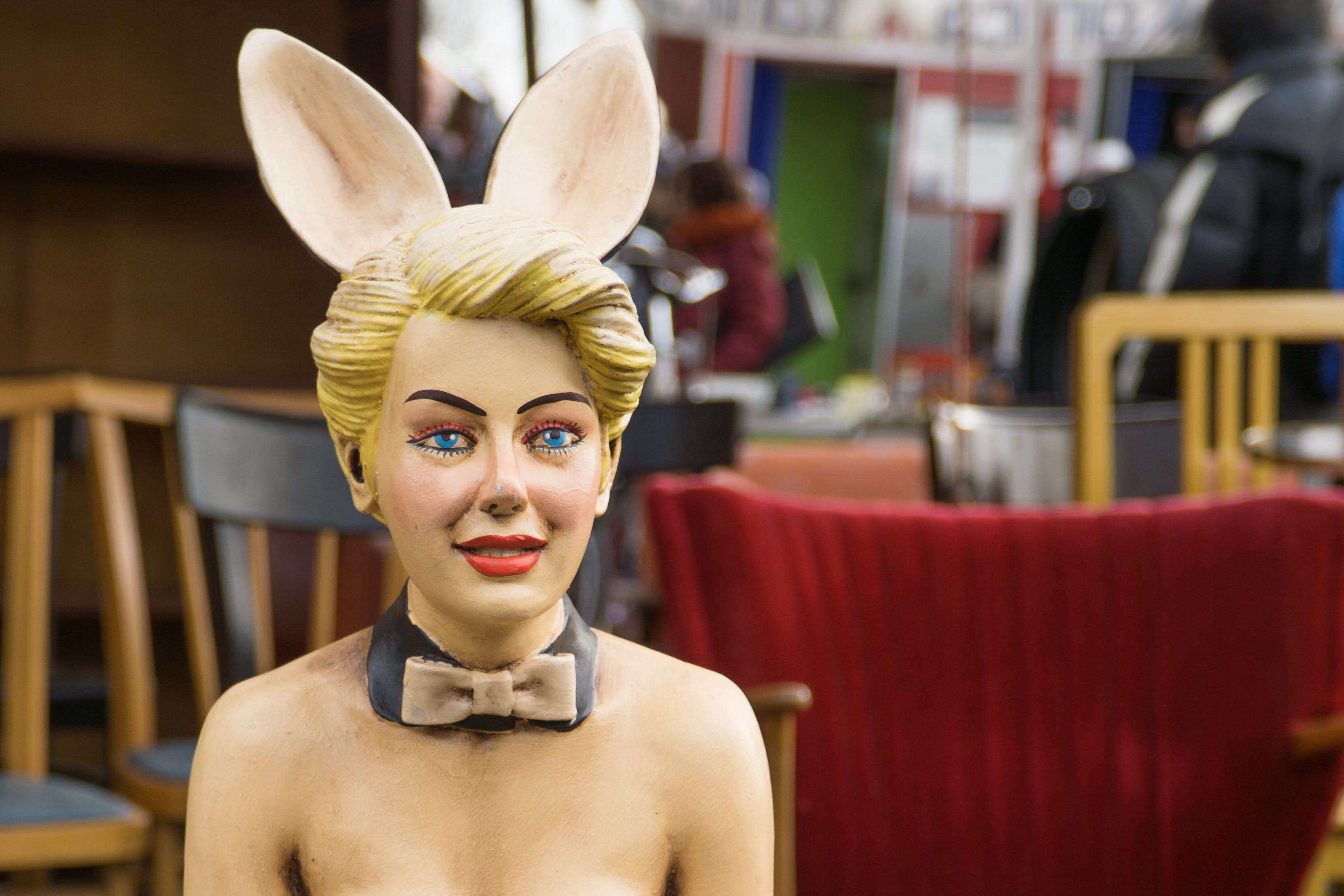 Woman With Bunny Ears Statue