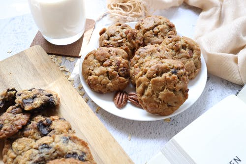 Close-Up View of Cookies on a Plate