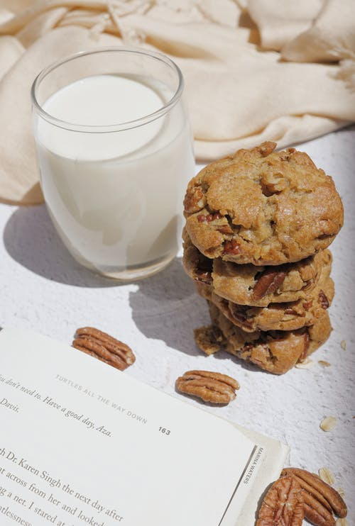Cookies Beside a Glass of Milk