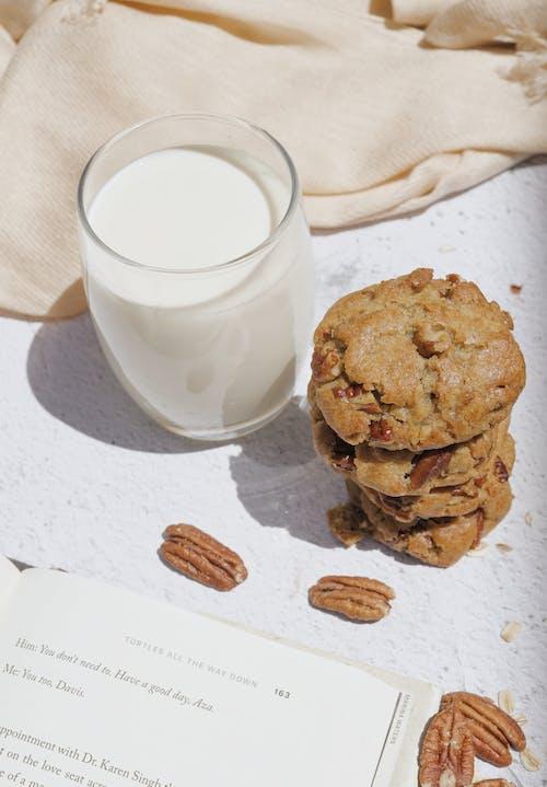 Cookies Beside Glass of Milk