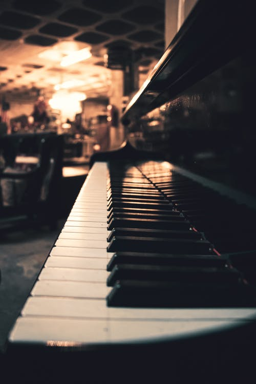 Free stock photo of antique shop, grand piano, low light
