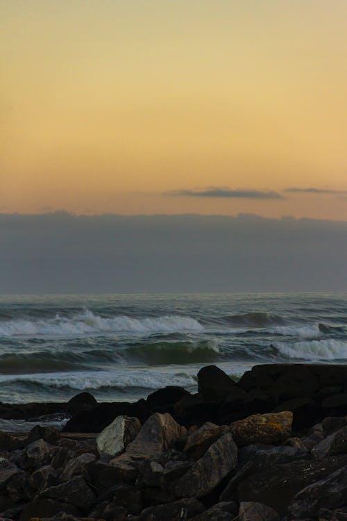 Free stock photo of above sea, beautiful sky, heaven, rocks
