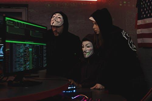 Imagine de stoc gratuită din atac cibernetic, computer, echipă