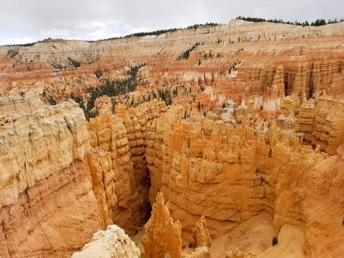 Scenic View of Brown Rock Formations