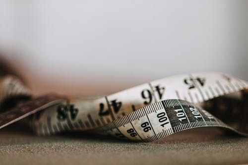 Close-Up View of a Tape Measure
