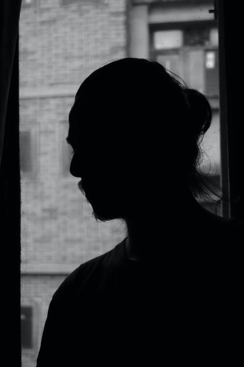 Free stock photo of alone, black and white, dark