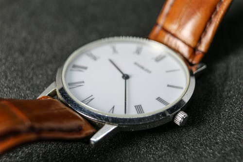 Free stock photo of Analogue, roman numerals, watch