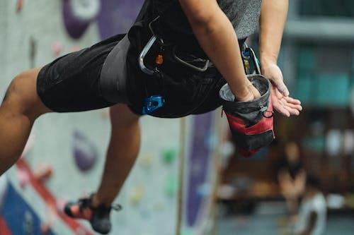 Climber training in climbing center