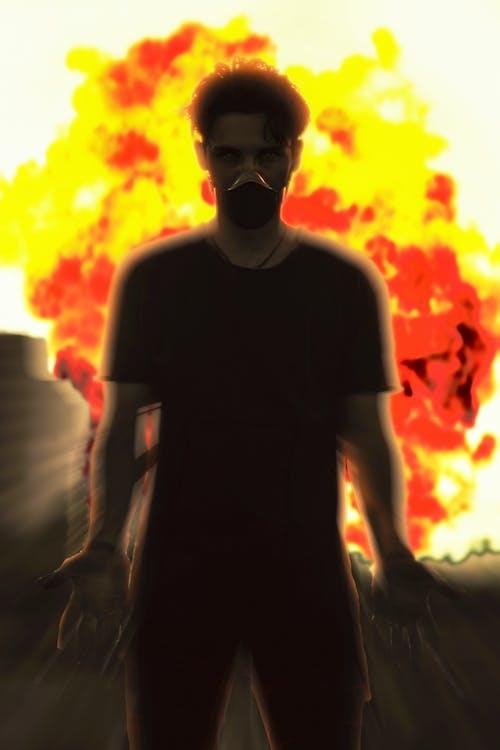 Бесплатное стоковое фото с апокалипсис, брюнетка, взрыв, вид