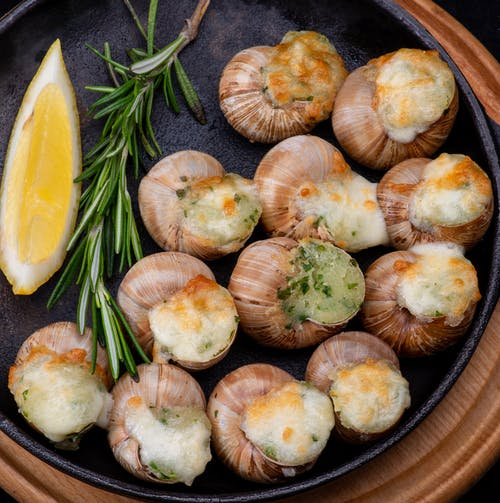 Close-Up Photo of a Delicious Cooked Escargots
