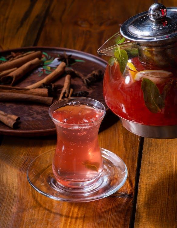 Clear Glass Mug With Red Liquid
