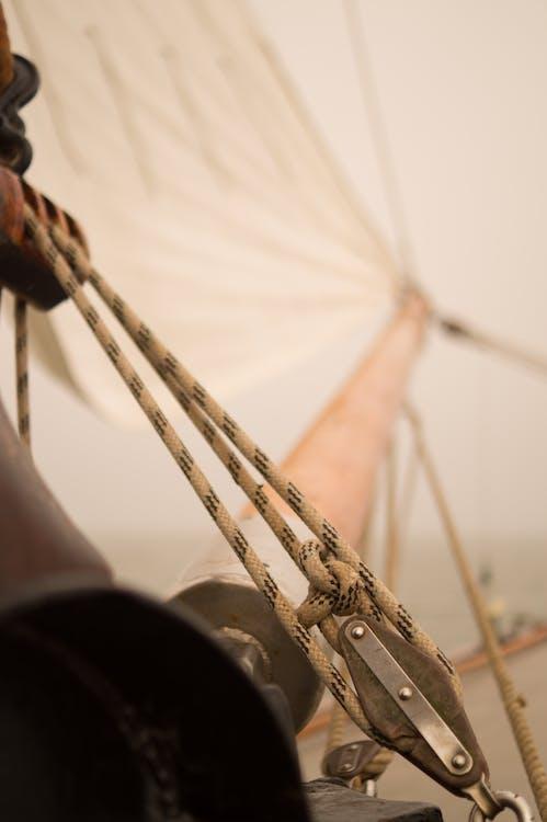 barco a vela, close, corda