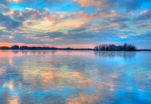 Blue Orange and Yellow Sunset