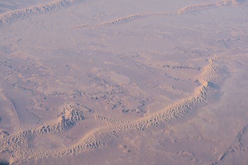 Aerial Shot of a Vast Desert