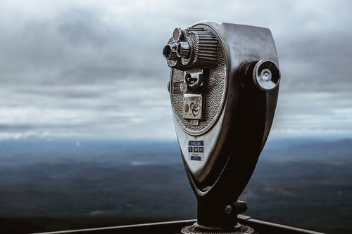 Close-Up Photo of a Coin-Operated Telescope
