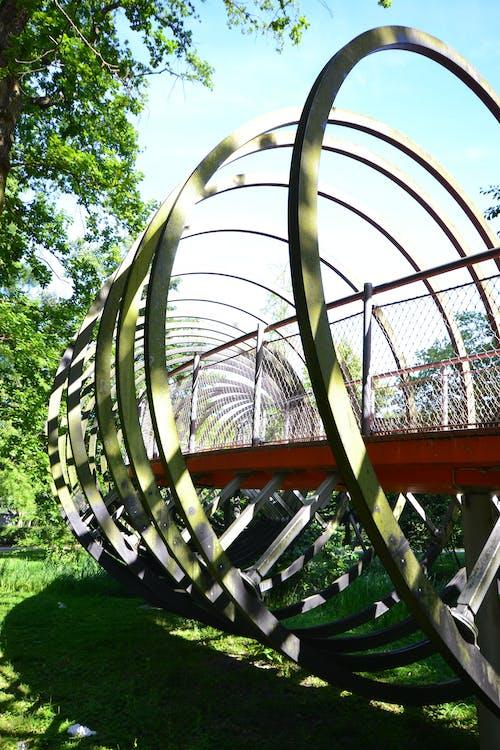 espaço, espiral, ponte