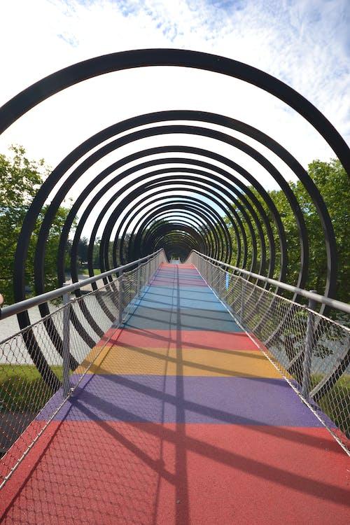 Foto profissional grátis de espaço, espiral, ponte
