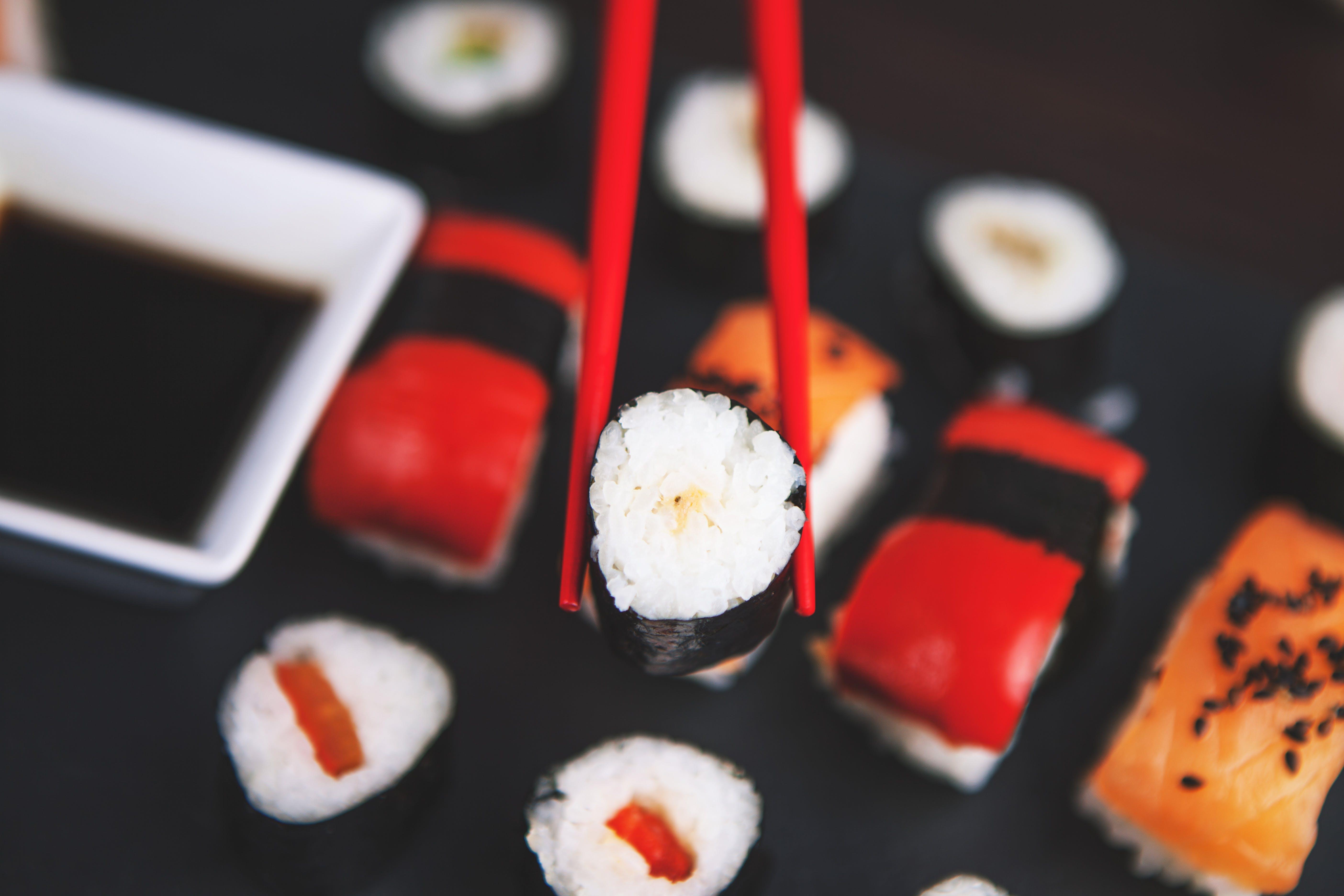 chopsticks, close-up, delicious