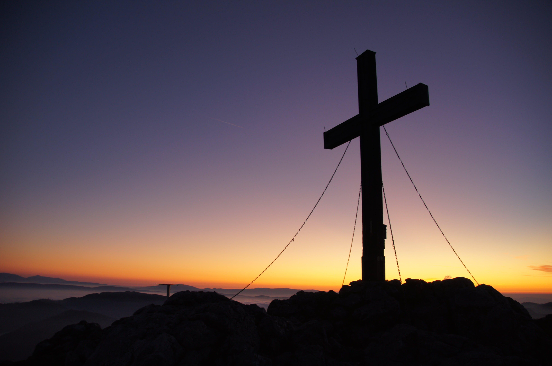 cross, dawn, dusk