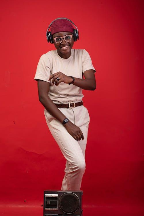Gratis lagerfoto af afroamerikansk, årgang, briller