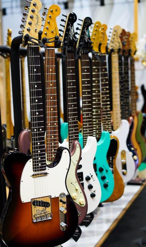 Electric Guitars on Display