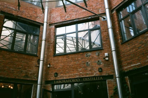 Facade of brick building in daytime