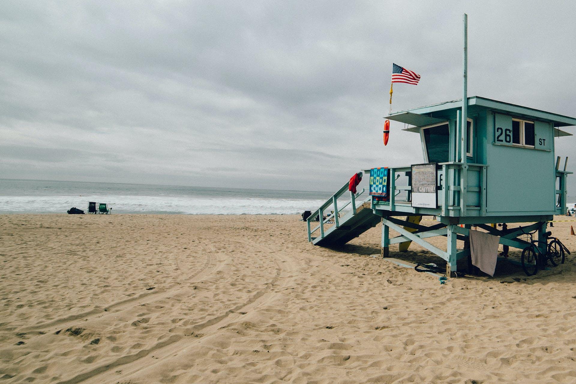 Lifeguard House at Beach